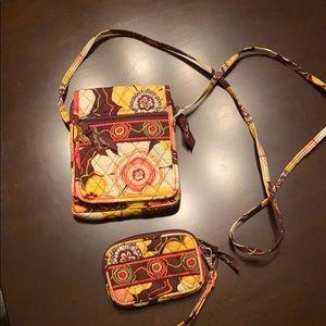 Vera Bradley small crossbody with matching wallet